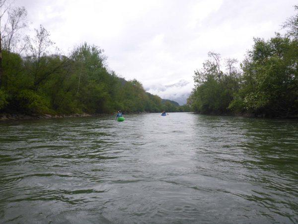 Kanus und Landschaft - Paddeln am Ziller - TWV Anpaddeln am Ziller 2020