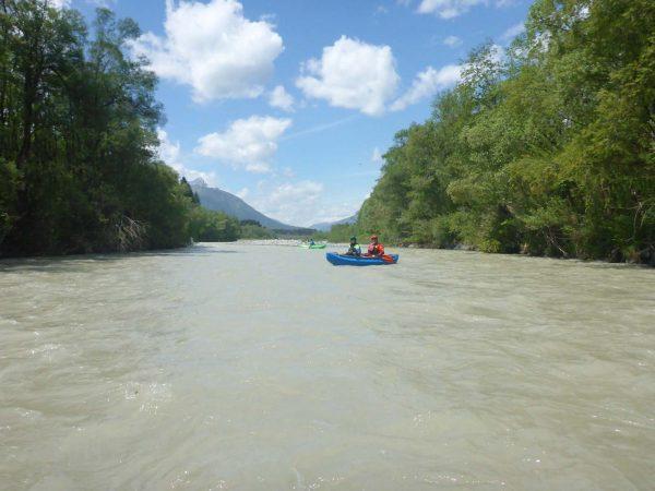 Kanufahren und schöne Landschaft auf der Gail - TWV Ausfahrt Gail 2020