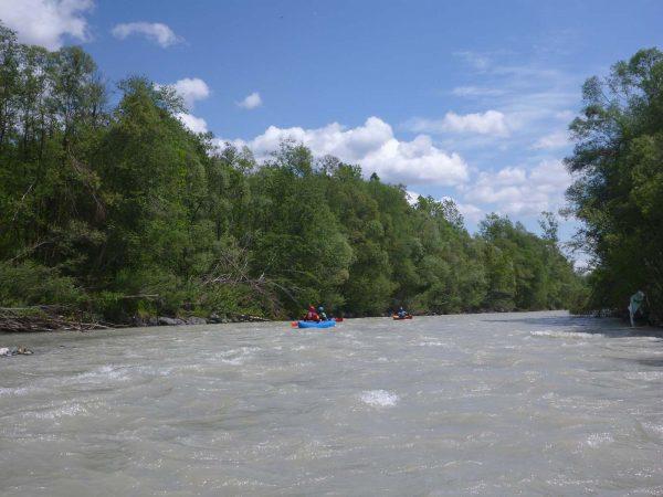 Paddeln und schöne Landschaft auf der Gail - TWV Ausfahrt Gail 2020